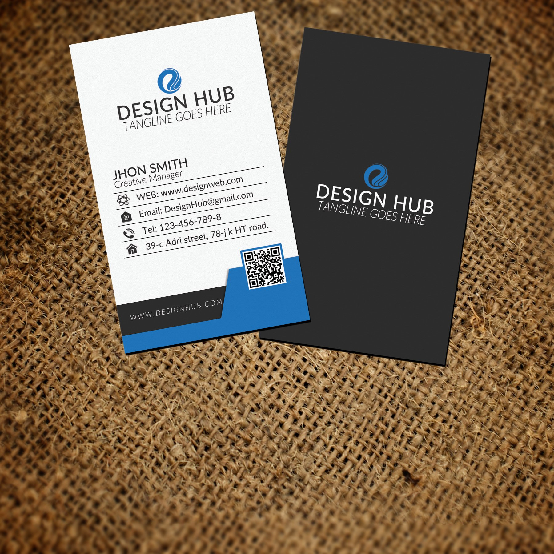 Creative vertical business card business card templates creative creative vertical business card business card templates creative market flashek Gallery