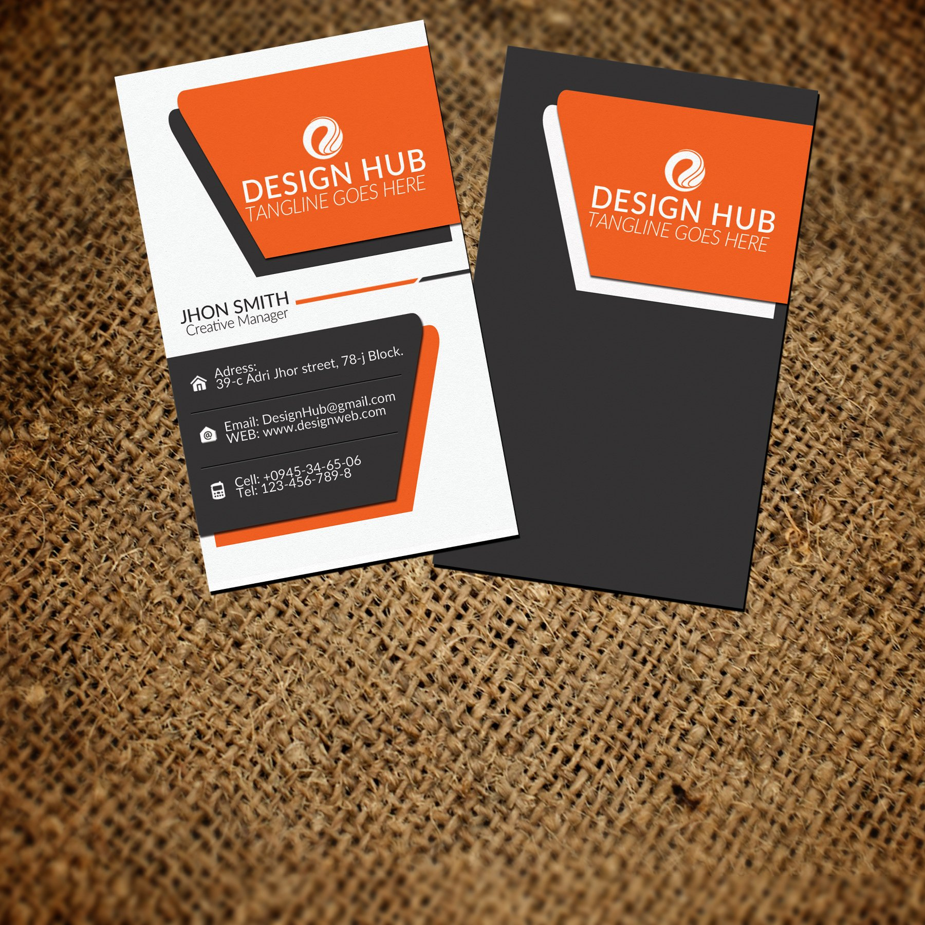 Free vertical business card template mandegarfo free vertical business card template wajeb Gallery