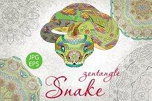 Zentangle snake