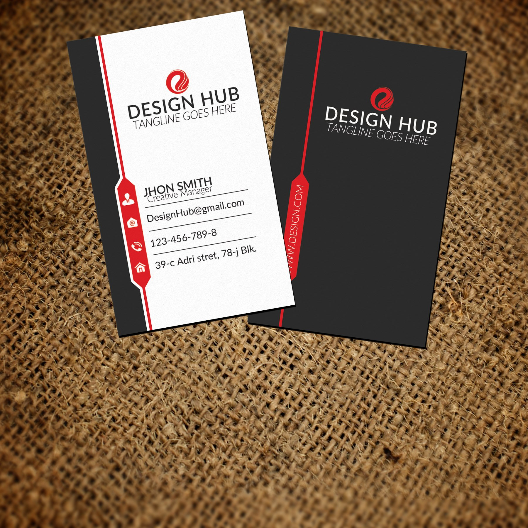 Vertical business card template business card templates creative vertical business card template fbccfo Image collections