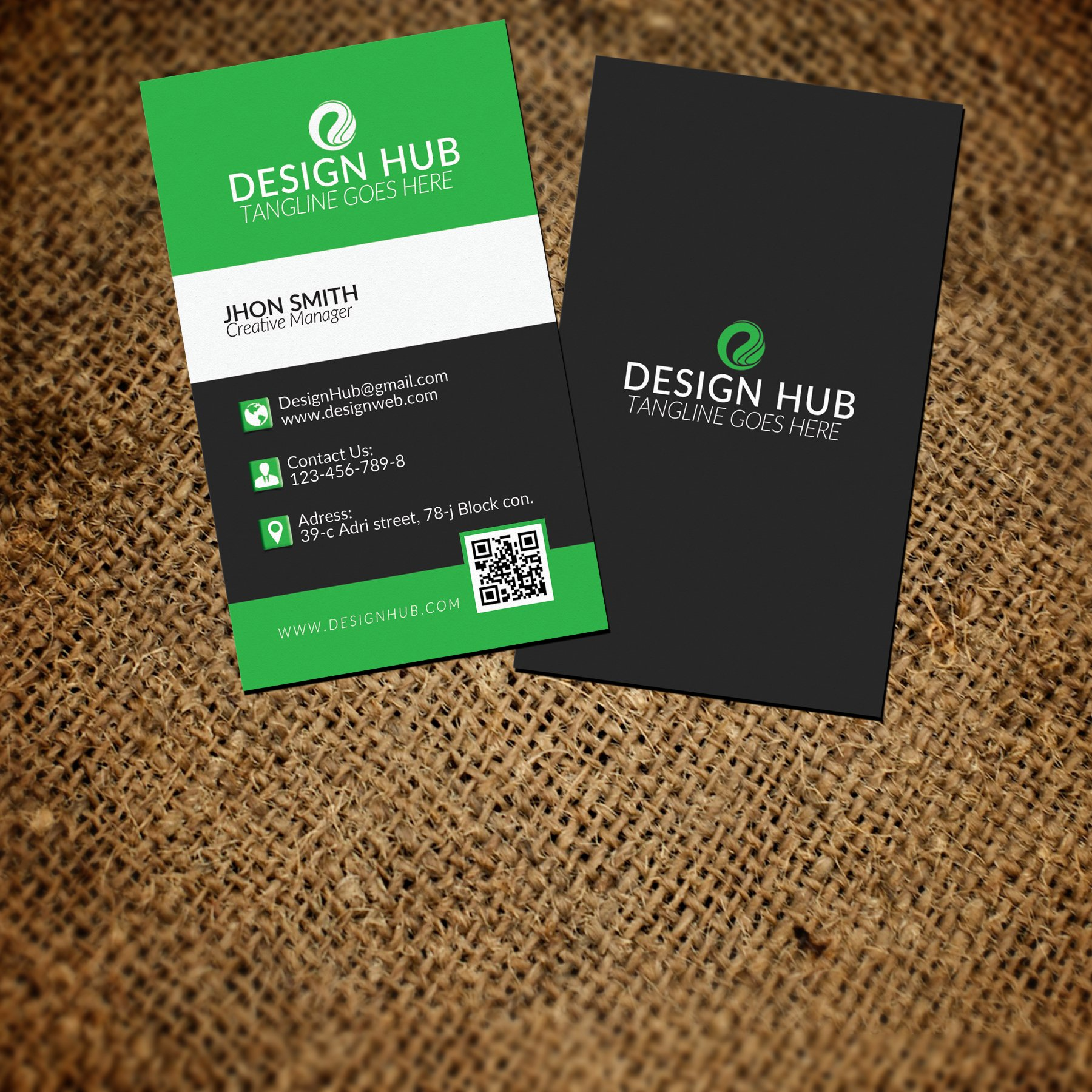 Creative vertical business card business card templates creative creative vertical business card business card templates creative market reheart Choice Image