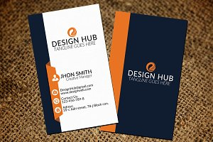 Vectored Vertical Business Card