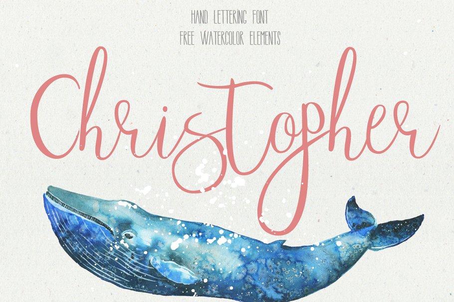 Christopher Font Script Fonts Creative Market