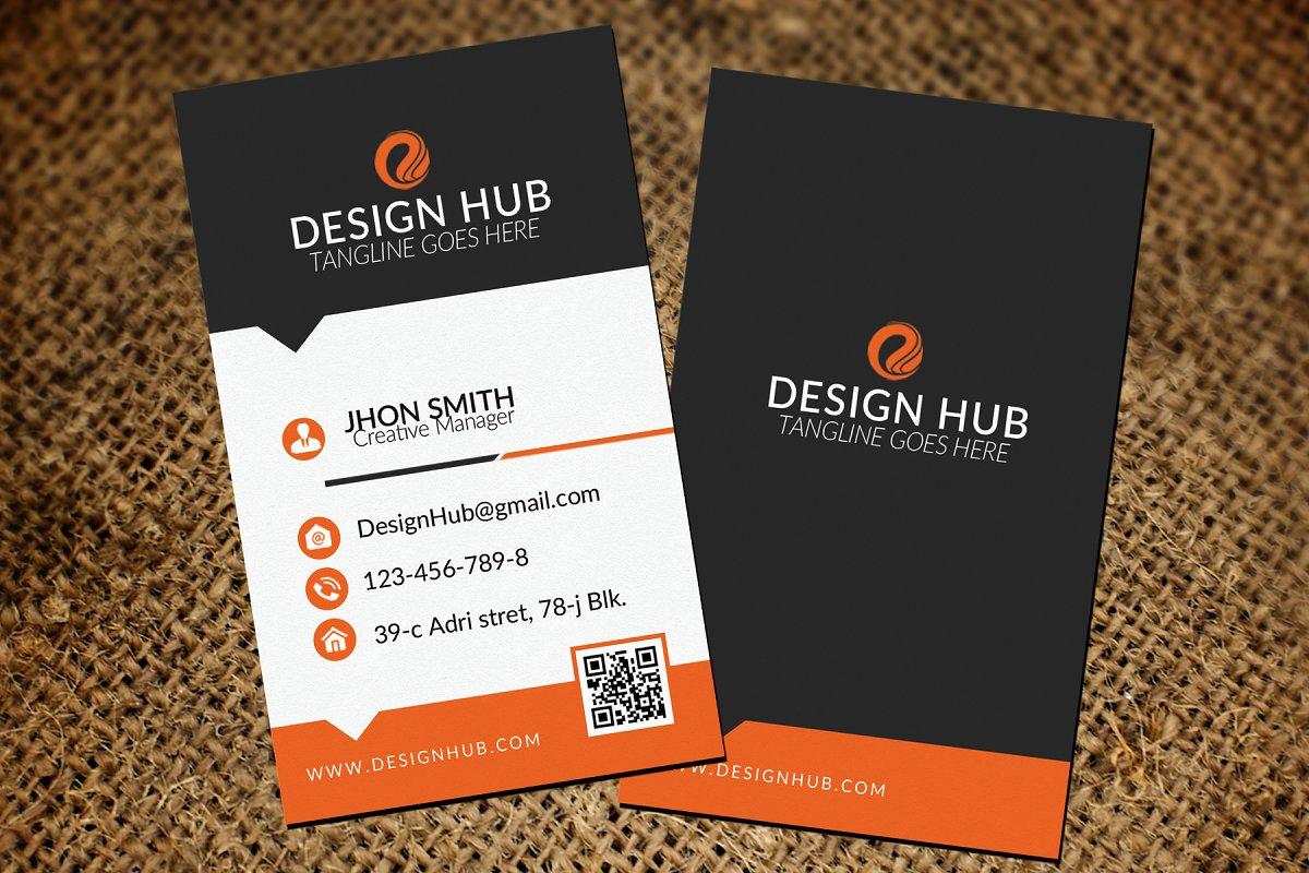 Vertical Business Card Template Business Card Templates Creative