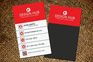 Red Vertical Business card