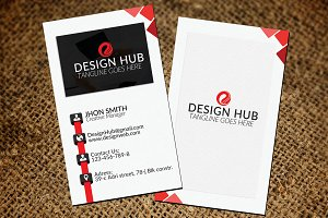 Vertical Stylish Business Card