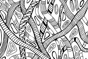 Hand-drawn snake pattern