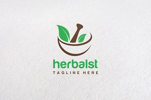 Premium Herbal Concept Logo Template
