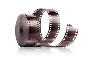 Cinematography movie video film tape isolated