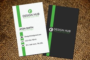 Line Style Corporate Business Card