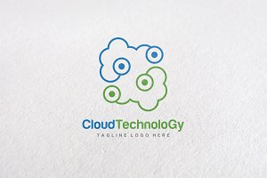 Premium Connect Cloud Logo Templates