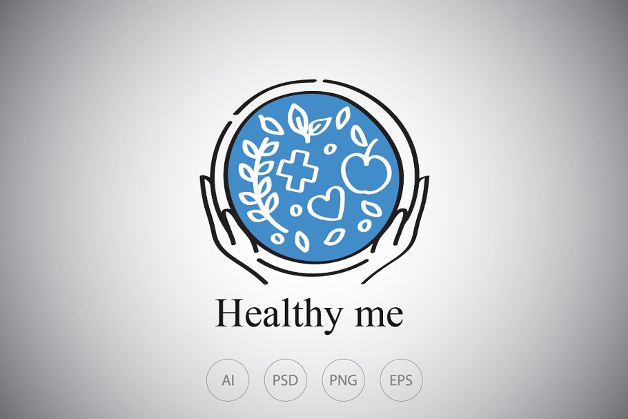Healthy Food Bowl Logo Template