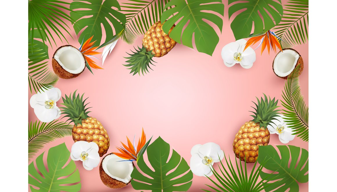 Summer Tropical Background With Palm Pre Designed Illustrator Graphics Creative Market Find & download free graphic resources for tropical background. summer tropical background with palm