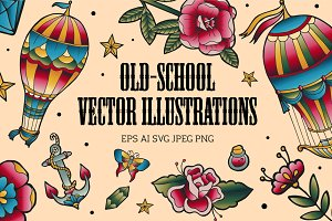 Old-school vector set