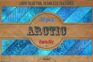 Light Blue Foil Textures XL Bundle