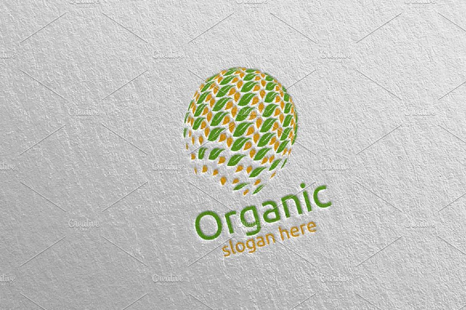 Global Natural and Organic Logo 25