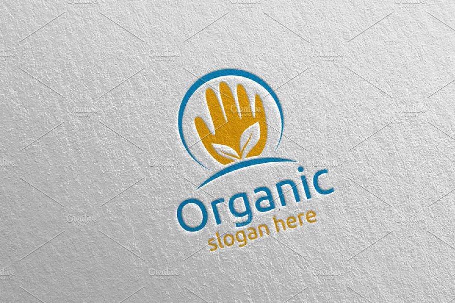 Hand Natural and Organic Logo 26