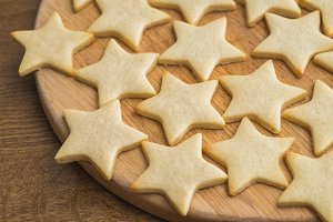Star shaped butter cookie,Christmast