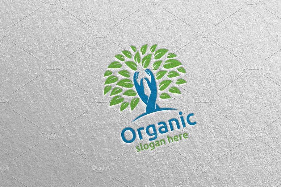 Hand Natural and Organic Logo 27