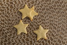 Star shaped butter cookies