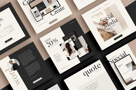 Lead Marketing Bundle   Canva & PS in Instagram Templates - product preview 2