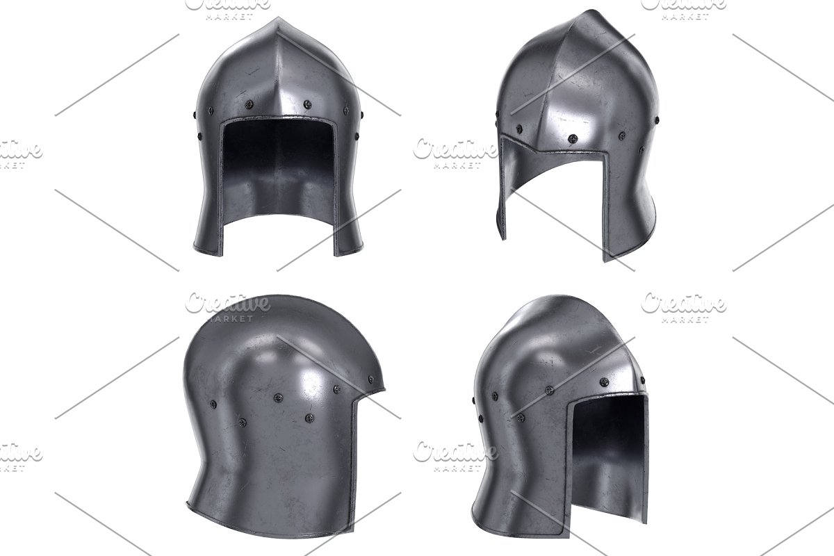 Set of Medieval Knight Barbute