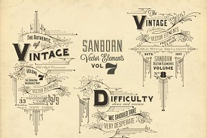 Sanborn Vector Elements Vol. 7
