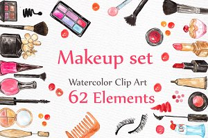 Watercolor makeup set