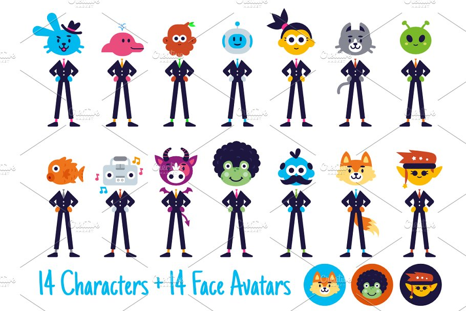 Character Avatar Team Business