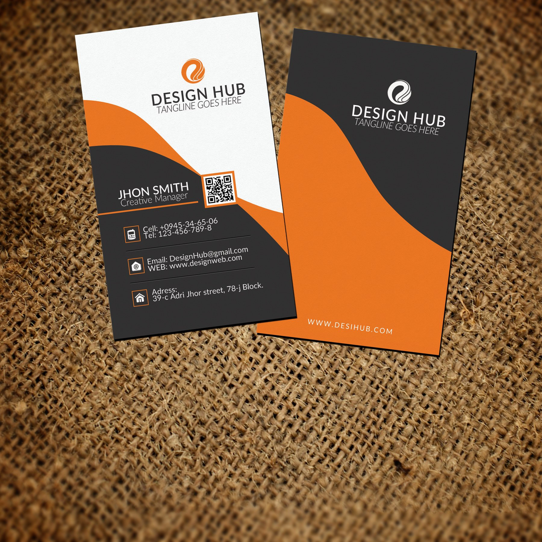 Vertical business card template business card templates vertical business card template business card templates creative market magicingreecefo Gallery