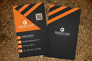 Black vertical Business card