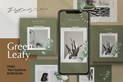 Green Leafy - Social Media Template