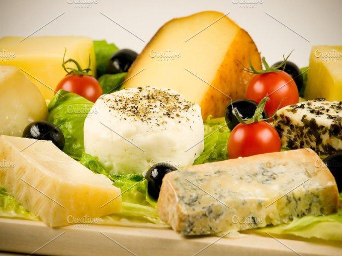 Different varieties of cheeses.jpg - Food & Drink