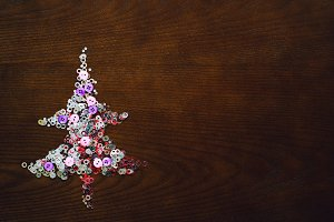 Christmas trees from sequins