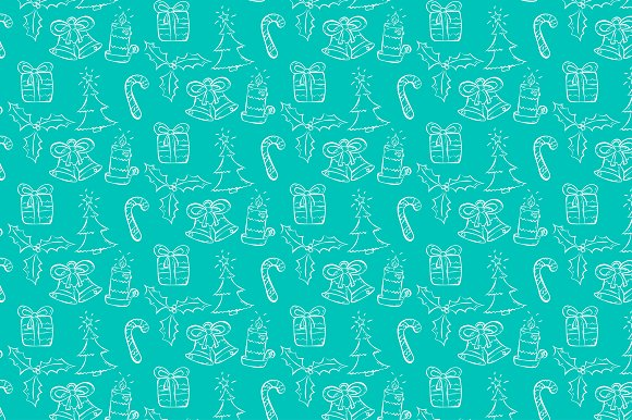 Christmas seamless pattern. Vector. - Patterns