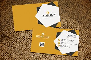 StylishYellow Business card Template