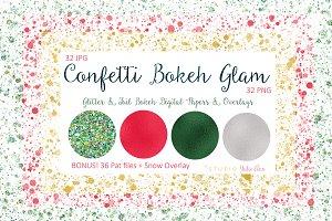 Confetti Bokeh Glam + BONUS
