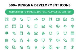 300+ Design and Development Icons