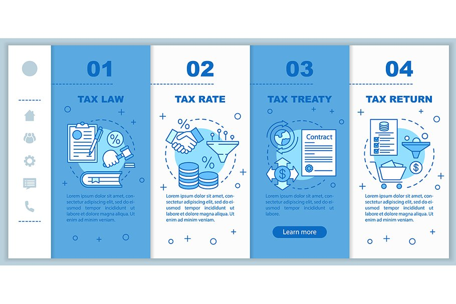 Taxes system mobile web pages