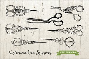 Victorian Ornate Scissors Set PNG