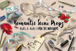 [10%off]Romantic Props&A5 A6 Mockups