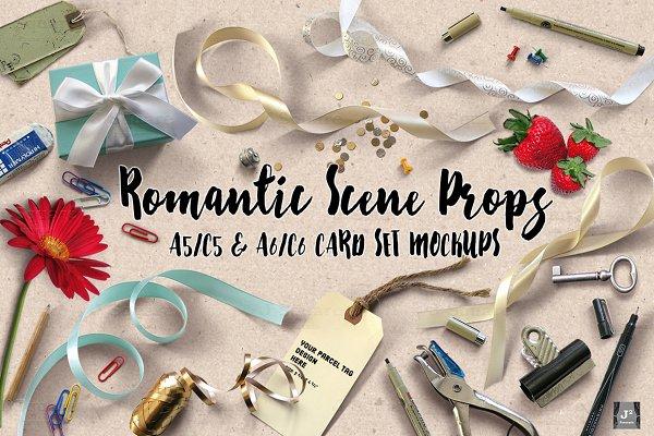[10%off]Romantic Props&A5 A6 Mockup…