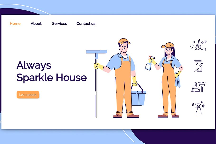 Cleaning service landing page
