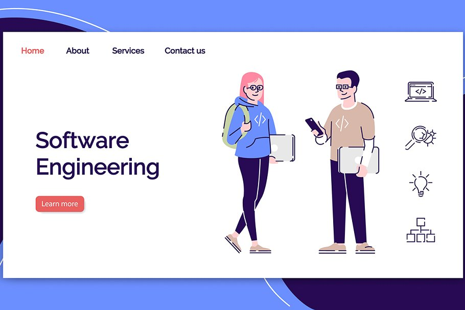 Software engineering landing page