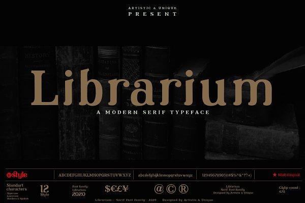 Librarium - Serif Font Family