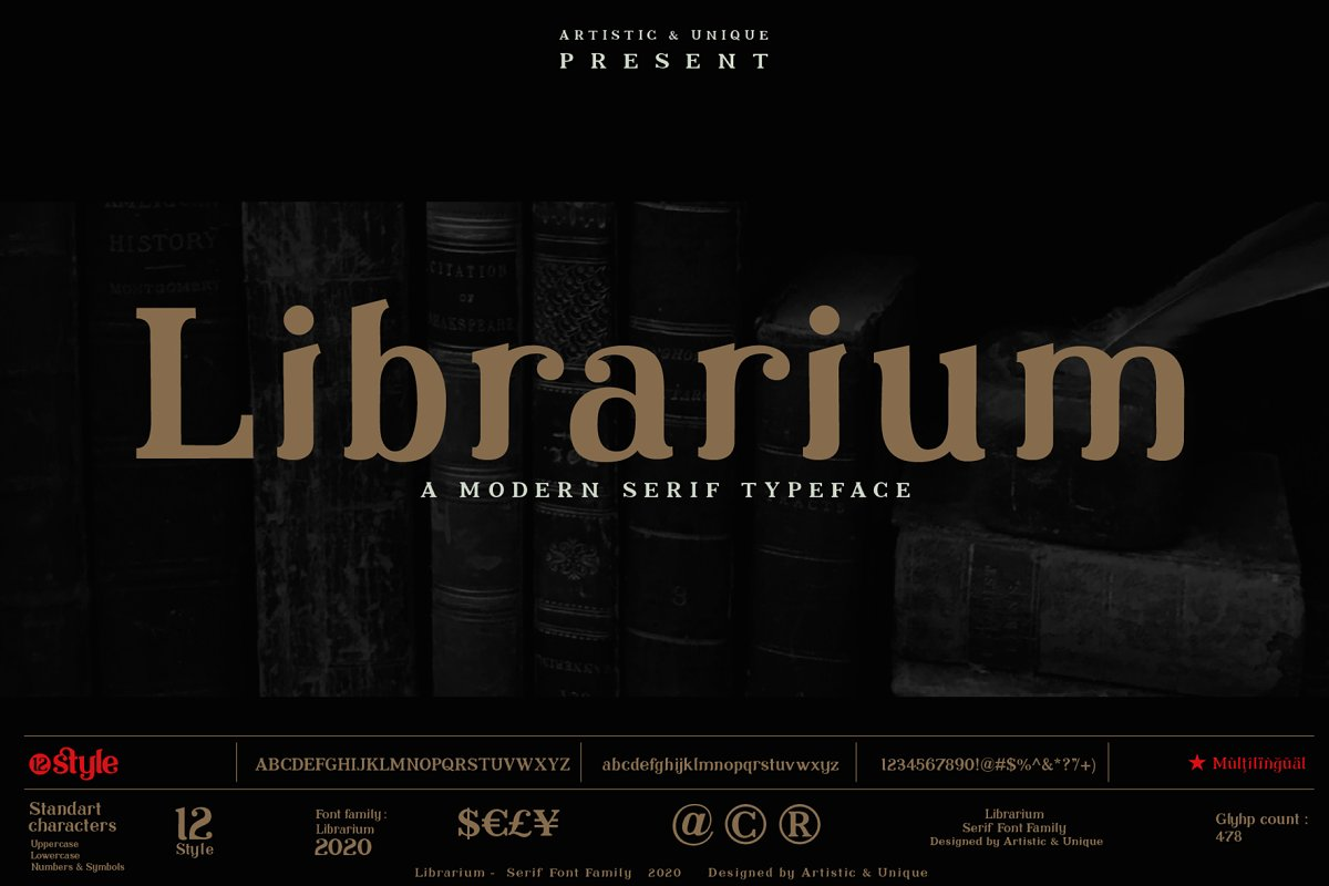 Librarium - Serif Font Family in Serif Fonts - product preview 8