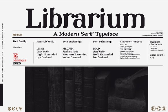 Librarium - Serif Font Family in Serif Fonts - product preview 1
