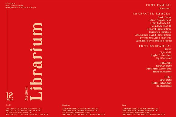 Librarium - Serif Font Family in Serif Fonts - product preview 3