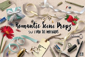 Romantic Props & 5x7 Card Set MockUp