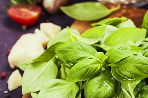 Basil and ingredients